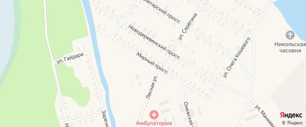 Мирный проспект на карте Онеги с номерами домов