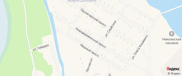 Новодеревенский проспект на карте Онеги с номерами домов