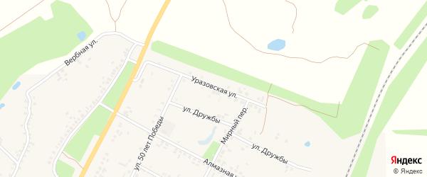 Уразовская улица на карте поселка Уразово с номерами домов