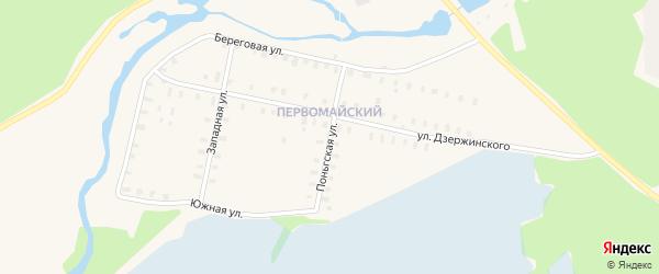 Поньгская улица на карте Онеги с номерами домов