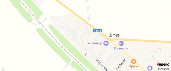 Улица 6-я Линия на карте Валуек с номерами домов