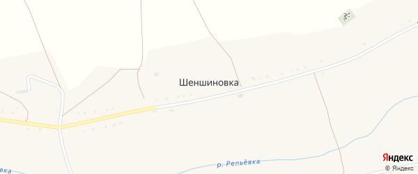 Надречная улица на карте села Шеншиновки с номерами домов