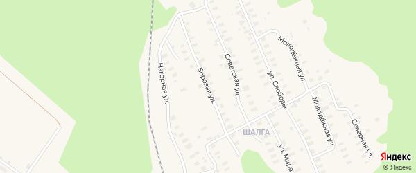 Боровая улица на карте Онеги с номерами домов