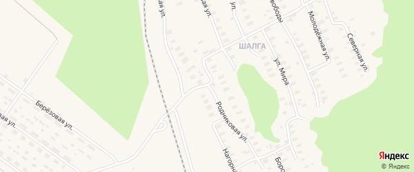 Родниковая улица на карте Онеги с номерами домов
