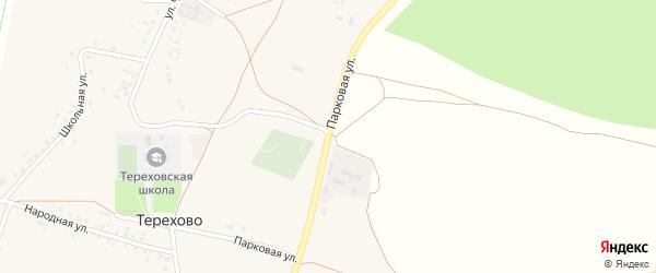 Парковая улица на карте села Терехово с номерами домов