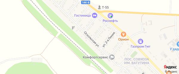 Оскольская улица на карте Валуек с номерами домов