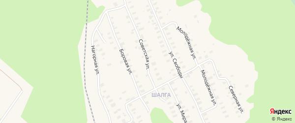Советская улица на карте Онеги с номерами домов