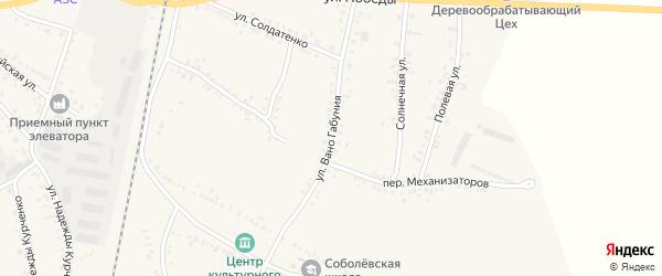 Улица Им В.Габуния на карте села Соболевки с номерами домов