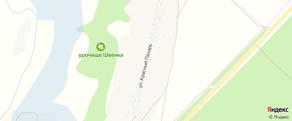 Улица Красный пахарь на карте села Терехово с номерами домов