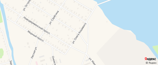 Улица Олега Кошевого на карте Онеги с номерами домов