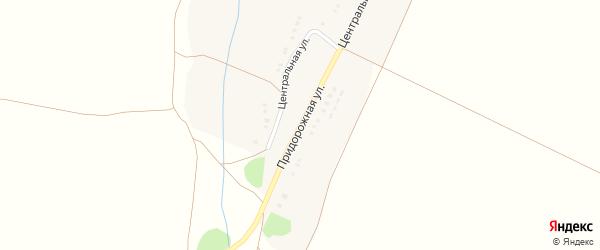 Придорожная улица на карте Петровского хутора с номерами домов
