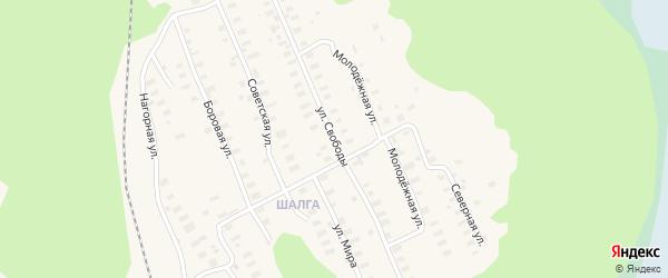 Улица Свободы на карте Онеги с номерами домов