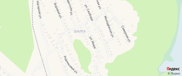 Улица Мира на карте Онеги с номерами домов