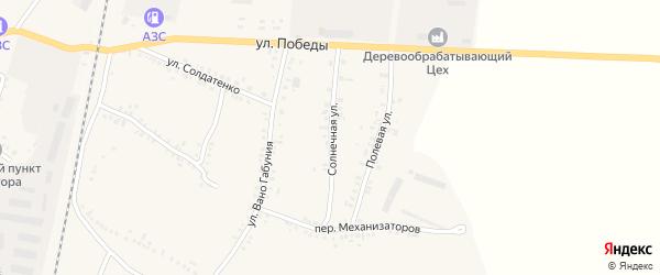 Солнечная улица на карте села Соболевки с номерами домов