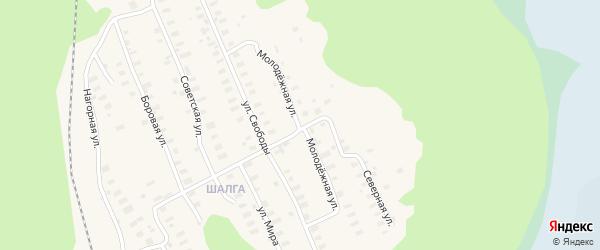 Молодежная улица на карте Онеги с номерами домов