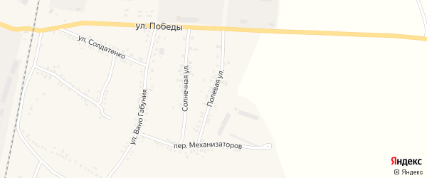 Полевая улица на карте села Соболевки с номерами домов