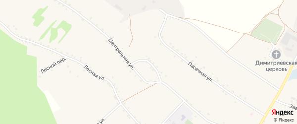 Центральный переулок на карте села Хорошилово с номерами домов