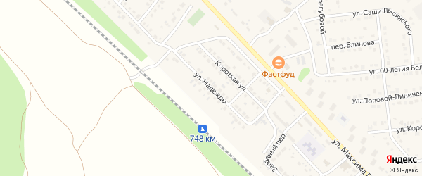 Улица Надежды на карте Валуек с номерами домов