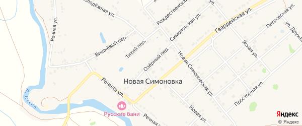 Озерный переулок на карте села Новой Симоновки с номерами домов