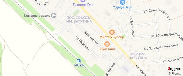Короткая улица на карте Валуек с номерами домов