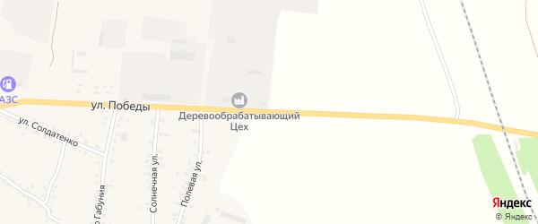 Улица Победы на карте села Соболевки с номерами домов