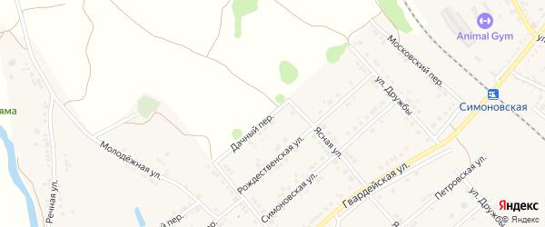 Дачный переулок на карте Валуек с номерами домов