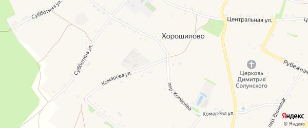 Улица Комарева на карте села Хорошилово с номерами домов