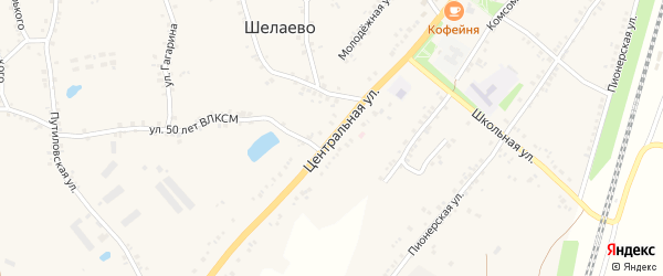Центральная улица на карте села Шелаево с номерами домов