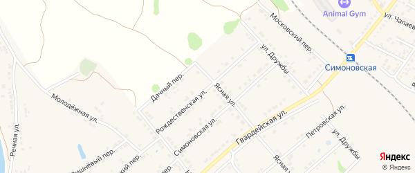 Рождественская улица на карте Валуек с номерами домов