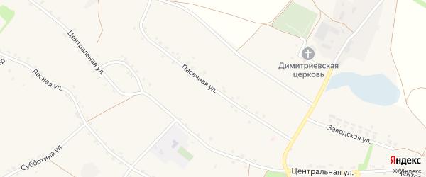 Пасечная улица на карте села Хорошилово с номерами домов