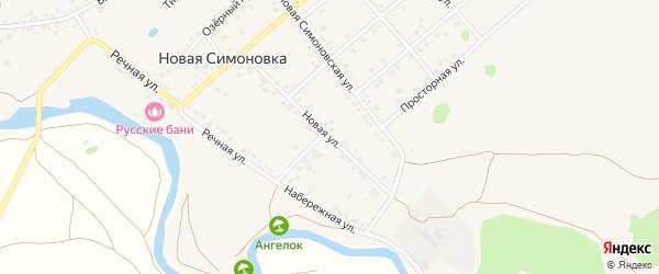Новая улица на карте села Новой Симоновки с номерами домов