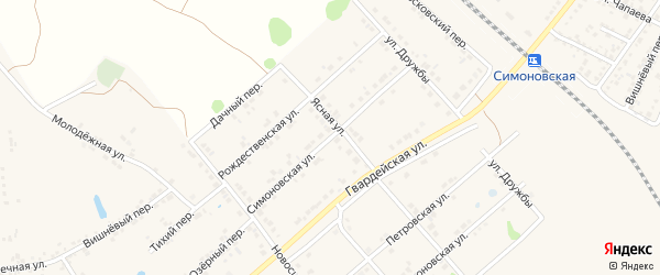 Симоновская улица на карте Валуек с номерами домов