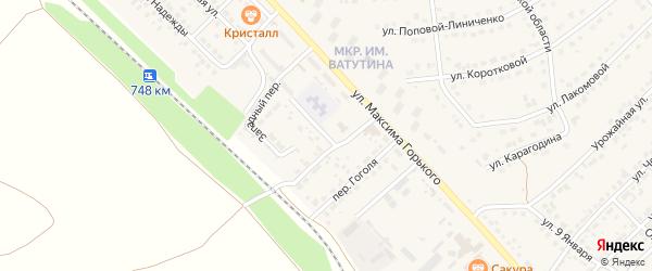 Западный переулок на карте Валуек с номерами домов