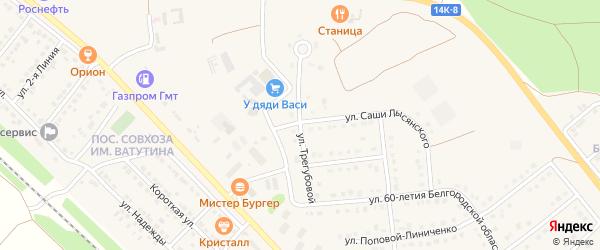 Улица Трегубовой на карте Валуек с номерами домов