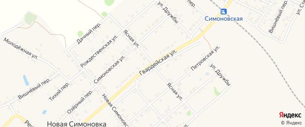 Ясная улица на карте Валуек с номерами домов