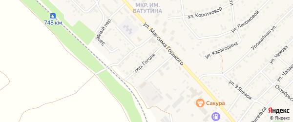 Улица Гоголя на карте Валуек с номерами домов