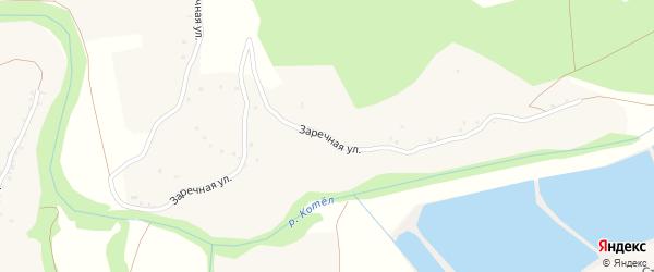 Заречная улица на карте села Городища с номерами домов