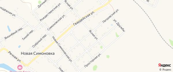 Петровская улица на карте Валуек с номерами домов