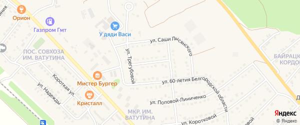 Переулок Блинова на карте Валуек с номерами домов