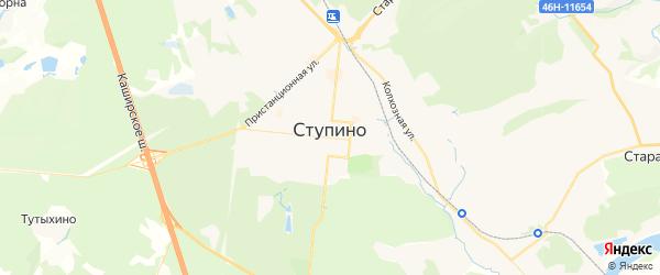 Карта Ступино с районами, улицами и номерами домов