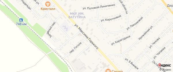 Улица М.Горького на карте Валуек с номерами домов