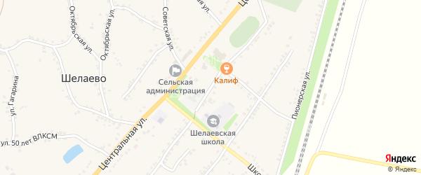 Комсомольская улица на карте села Шелаево с номерами домов