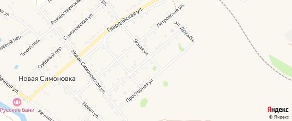 Яблоновская улица на карте Валуек с номерами домов