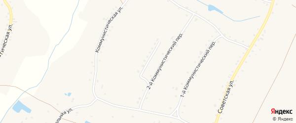 3-й Коммунистический переулок на карте села Городища с номерами домов