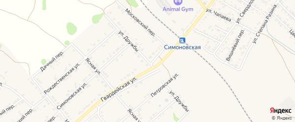 Улица Дружбы на карте Валуек с номерами домов