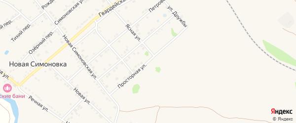Просторная улица на карте Валуек с номерами домов