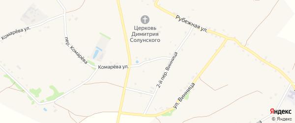 Переулок 1-й Винница на карте села Хорошилово с номерами домов