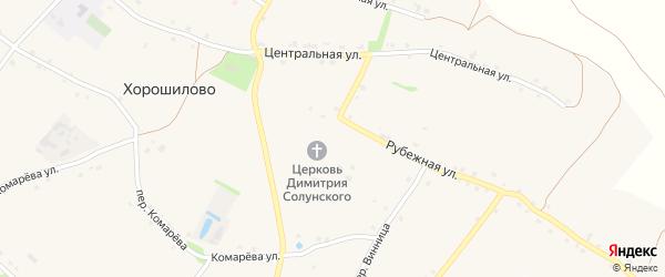 Православный переулок на карте села Хорошилово с номерами домов