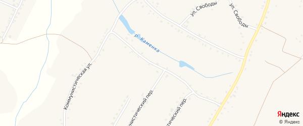 Коммунистическая улица на карте села Городища с номерами домов