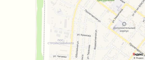 Улица Чапаева на карте Валуек с номерами домов